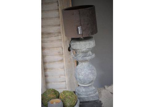 Brynxz Brynxz velvet cilinder kap grey 15cm