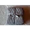 Fleece teddy plaid Ezra donkergrijs 200 cm