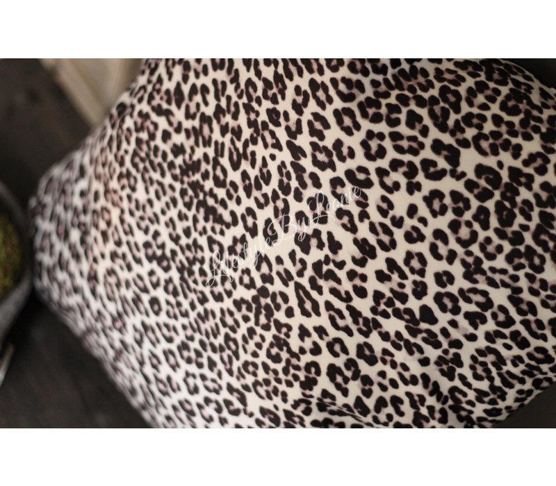 Kussen panterprint grijs 45 cm