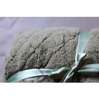 Fleece teddy plaid Ezra oil green 200 cm