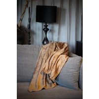 Fleece plaid bison bruin 180 cm