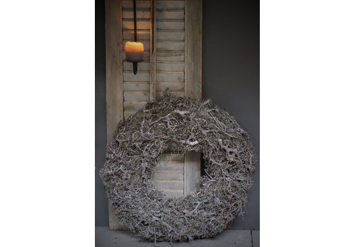 Grijze krans bonsai met mos 60 cm