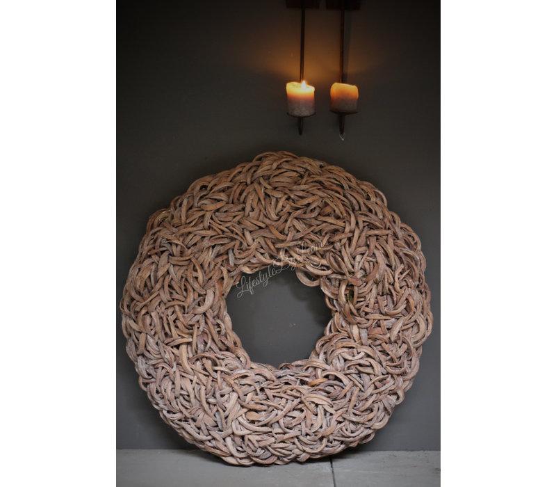 Krans Coco slice naturel 80 cm