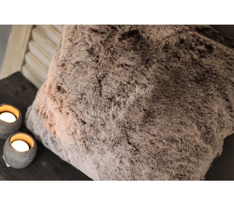Bont kussen Alaska sand 45 cm