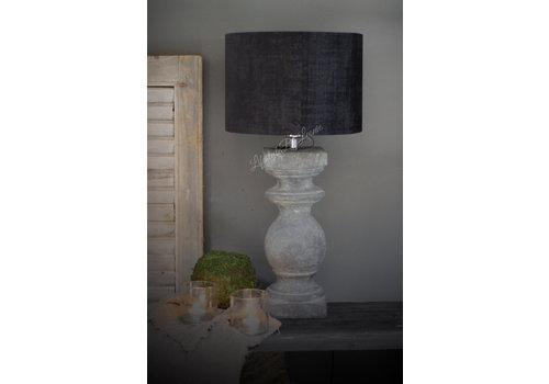 Velvet cilinder lampenkap Zwart 30 cm