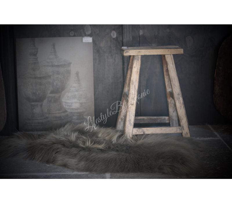 IJslandse schapenvacht Olive green 110 cm