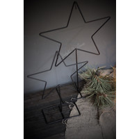 Metalen ster frame op voet 20 cm