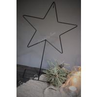 Metalen ster frame op voet 25 cm