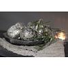 Sobere kerstbal Rib pearl 8 cm
