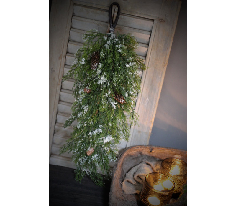 Namaak kerstgroen toef 61 cm
