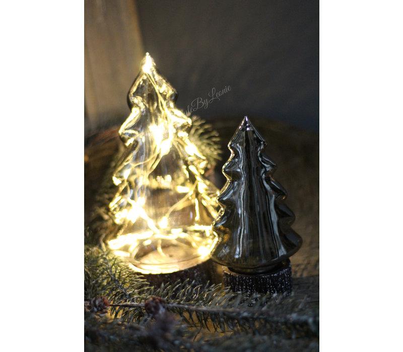 Glazen LED boom Smoke black 30 cm