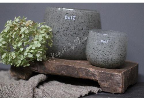 Dutz DUTZ round windlicht New grey 16 cm