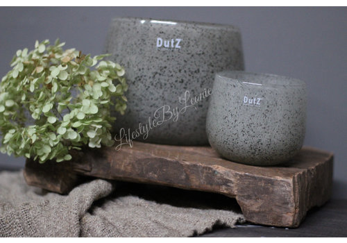 Dutz DUTZ round windlicht New grey 16cm