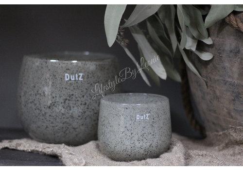 Dutz DUTZ round windlicht New grey 10cm