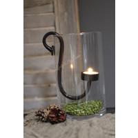 Cilinder windlicht helder glas 20 cm
