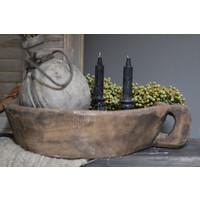 Zwarte dinerkaars Kandelaar model Black 20 cm