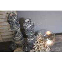 Brynxz set van 2 ornamenten / kandelaar 38 cm