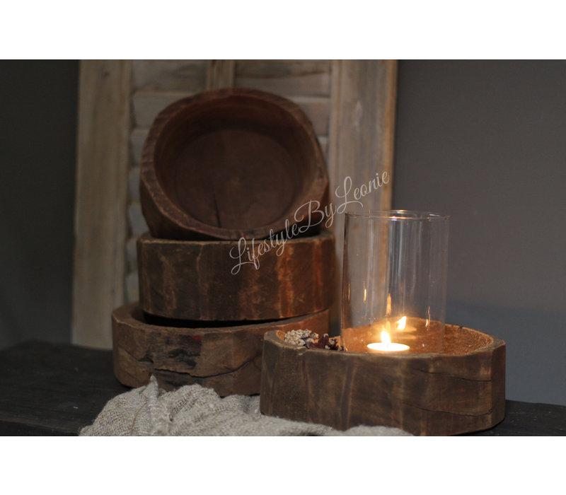 Oud houten mini schaaltje
