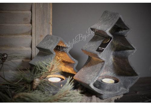 Brynxz Brynxz set van 2 kerstboom waxinelichthouders
