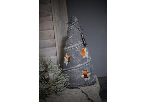 Brynxz Brynxz stenen kerstboom waxinelichthouder Vintage 29 cm