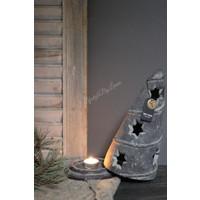 Brynxz stenen kerstboom waxinelichthouder Vintage 29 cm