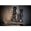 Brynxz Brynxz zwarte stenen dinerkaars baluster 27 cm