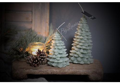 Brynxz Brynxz kerstboom kaars Sage green 17 cm