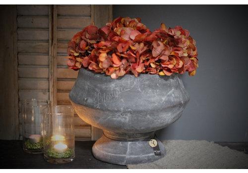 Brynxz Brynxz stenen ronde pot op voet 36 cm