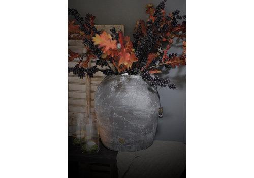 Zijden tak Eikenblad met eikels 92 cm