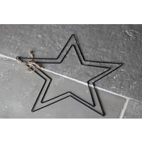 Metalen zwarte ster 38 cm