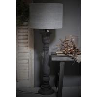 Cilinder lampenkap stonewashed grey 35 cm