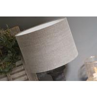 Cilinder lampenkap Stonewashed leem 35 cm