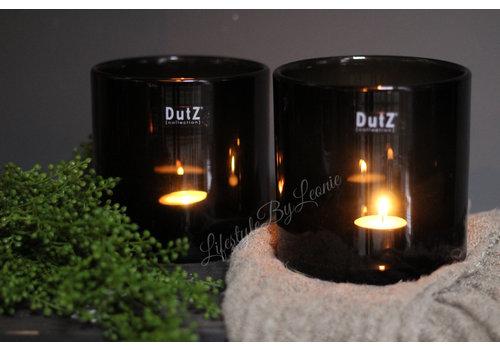Dutz DUTZ cilinder windlicht black 14 cm