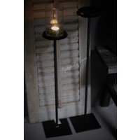 Zwarte vloerkandelaar stompkaars 70 cm