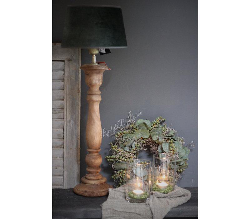 Velvet lampenkap Old green 25 cm