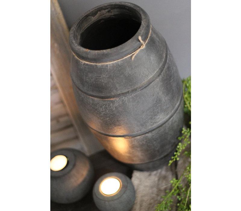 Hoge ronde kruik met ribbel rand El durban 37 cm