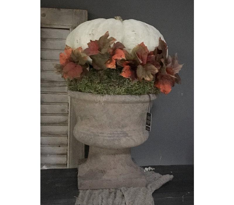 Brynxz stenen pot op voet Old brown 30 cm
