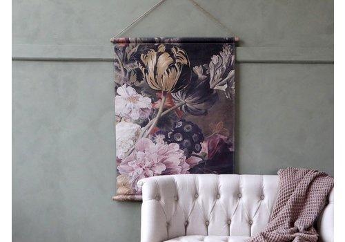 Canvas wandhanger Floral 97 cm