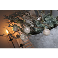 Glazen kerstbal champagne glitter 6cm