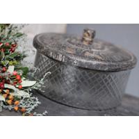 Sobere glazen voorraad / koekjes pot Classic Old grey