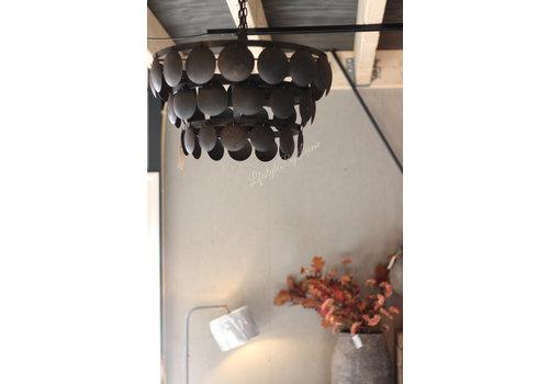 Metalen Old black schijfjes hanglamp 50cm