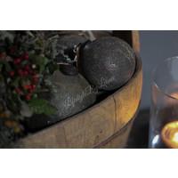 Sobere glazen kerstbal Soda mudd 13 cm