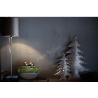 Hoge ijzeren kerstboom waxinelichthouder 66 cm