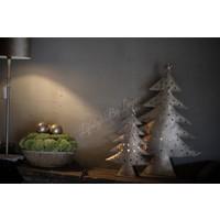 Hoge ijzeren kerstboom waxinelichthouder 40 cm