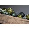 Glazen kerstbal Moss green shinny 10 cm