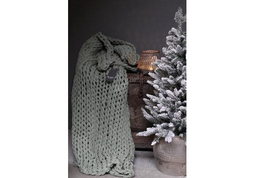 Brynxz Brynxz plaid Knitted pastel green 150 cm
