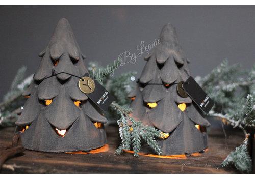 Brynxz Brynxz stenen waxinelichthouder Tree organic brown 19 cm