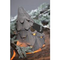 Brynxz stenen waxinelichthouder Tree organic brown 19 cm