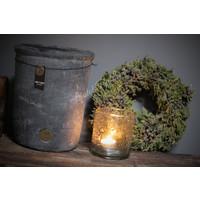 Brynxz hoge stenen pot Vintage grey 25 cm