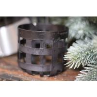 Brynxz zwart metalen houder voor windlicht 7 cm